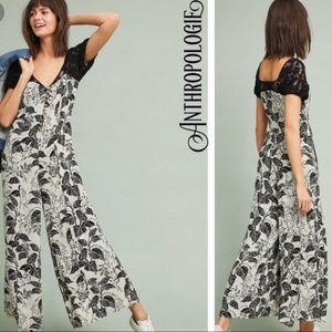 Anthropologie Maeve Windsor lace jumpsuit 0 new